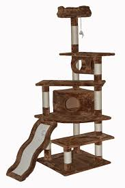 amazoncom  go pet club cat tree inch brown  cat tree and