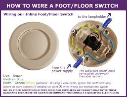 useful information for in line light switches how to wire a foot or floor switch