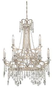 quoizel tca5009vp tricia two tier large 31 inch diameter antique crystal chandelier lighting loading zoom
