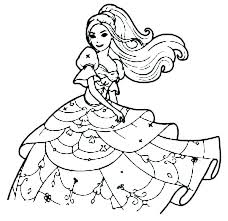 Barbie Doll Coloring Pages Free Printable Colorin Porongurup