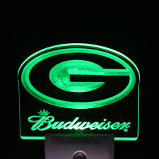 ws0149 green bay packers budweiser day night sensor led night light sign