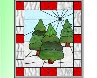 Easy Stained Glass Patterns Simple Christmas Easy Stained Glass Trees Stained Glass Pattern Of Winter