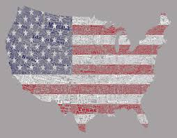 american flag word art usa word cloud and american flag mixed media by brian reaves