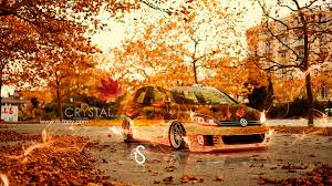 volkswagen golf autumn crystal car