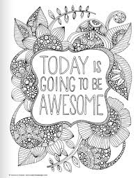 Small Picture Inspirational Quotes Coloring Book for Adults Inspirational