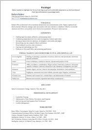 Resume Paralegal Resume