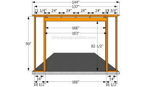 how to frame a garage doorBuilding the front wall  sheds and garage plans  Pinterest