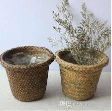 2019 non vine wicker decorative flower basket rustic style waterproof plastic fleshy planting gardening flower pot 88d from planters 8 6 dhgate com