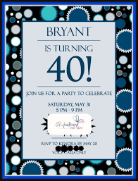 40 birthday invitation templates free awesome new 40th birthday party invitations for him 40th birthday parties
