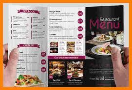 Tri Fold Restaurant Brochure Template Major Magdalene