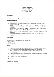 Dental Assistant Resume Objective Examples Meltemplates