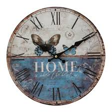 Retro Kitchen Wall Clocks Vintage Rustic Retro Shabby Chic Antique Kitchen Home French Style