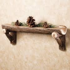Rustic Timber Wall Shelf