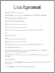 Sample Loan Agreement Template Free Mortgage Loan Agreement Template