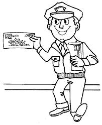 mr postman is smiling in community helpers coloring page   netartmr postman is smiling in community helpers coloring page