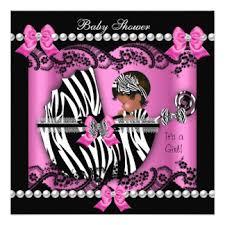 Zebra Baby Shower Invitations U0026 Announcements  ZazzlePink Zebra Baby Shower Invitations