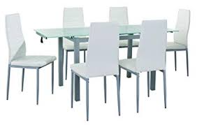 Mobilier Deco Table à Manger En Verre Avec 2 Rallonges Extensible