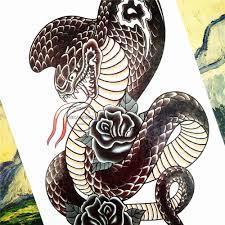 Shnapign Evil Black Mamba змея временные татуировки средства ухода за кожей книги по