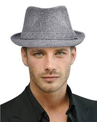 Short Brim Gangster Manhattan Trilby Womens Fedora Hat, Black/Charcoal Amazon.com: Hat