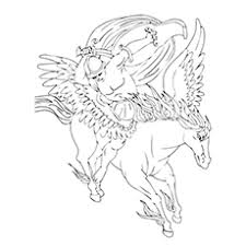 Top 10 Free Printable Pegasus Coloring Pages For Toddlers