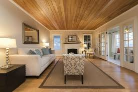 casual living room. Casual Living Room With Wood Ceiling And Floors A