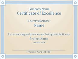Microsoft Publisher Award Certificate Template