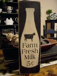 country kitchen signs farm fresh milk primitive wood sign cute