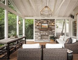 screened porch with fireplace inside designs ideas screen porch interior ideas r83 screen
