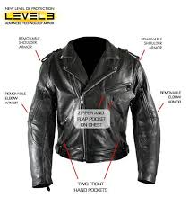 xelement black buffalo leather level 3 armored classic biker jacket