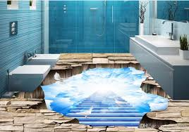 custom 3d floor murals beautiful sky 3d floor painting for living room bedroom 3d pvc flooring waterproof animation wallpaper art wallpaper from yeyueman