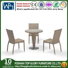small round rattan outdoor aluminium waterproof garden furniture coffee set with stackable chair