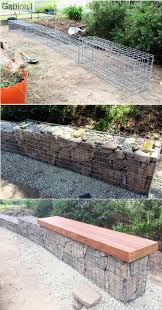 Small Picture small garden gabion wall with seat showing hand stacked 2nd