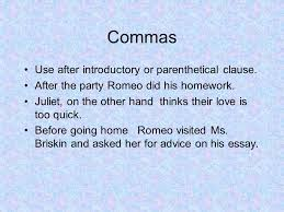 paragraphs on romeo and juliet ppt 8 commas