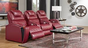 Decorating with red furniture Accents Crescent Valley Living Room Set Red Reclining Couch With Chrome Mirrortopped Table On Red And Gray Rug Furniturecom Black Gray Red Living Room Furniture Decorating Ideas