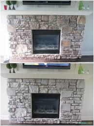 Gray Brick Fireplace Gray Washed Fireplace Stone Using Annie Sloan Chalk Paint Life