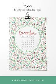 Free Printable December Calendar Page Fiona