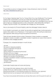 Hardship Letter For Mortgage Modification Loan Letters That Work