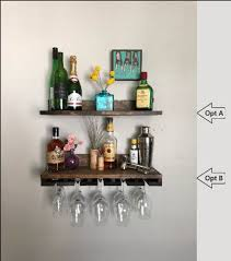 no lip shelves rustic wood wine rack