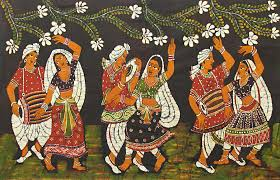 indian folk dance paintings