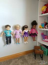 diy american girl doll holder keep 18 inch dolls organized and displayed