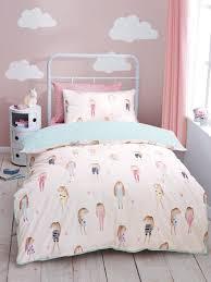 Schöne Kleine Mädchen Bettwäsche Sets Die Farbe Weiß Ist Eine