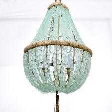 white wood bead chandelier blue beaded medium size of throughout white beaded chandelier