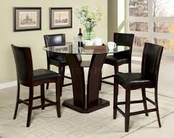 cmpt pc counter height dining set wblack chairs