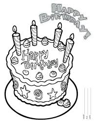 Coloring Cake Coloring Pages Free Colouring Birthday Coloring Page