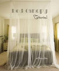bed canopy tutorial bedroom furniture diy