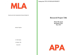 Mla Paper Format With Cover Page Research Paper Cover Page Mla Format Front Sample Title