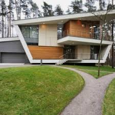 contemporary house in folded plane shape house in gorky 6