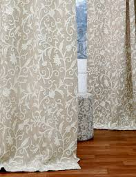 antimal crewel curtain panels and ds hand embroidered linen fabric