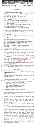 lahore board english inter part past paper subjective paper lahore board english inter part 1 past paper 2012 subjective paper 1 group 2