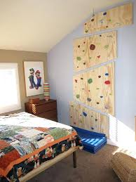 rock climbing wall for toddlers remodeled my sons room with a custom platform bed and a rock climbing wall for toddlers